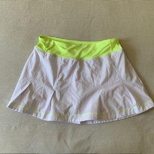 Kyodan White Pleated Athletic Skort Tennis Golf